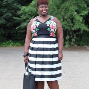 Dresses & Skirts - Stripe Midi Skirt