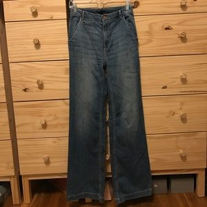 High Waisted Bell Bottom Flare Jeans