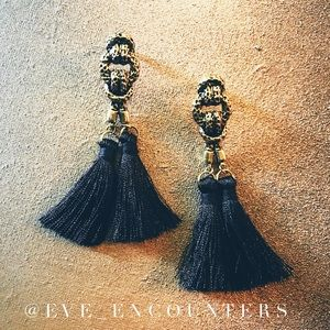 🆕|ANTIQUED GOLD KNOT TASSELS EARRINGS|