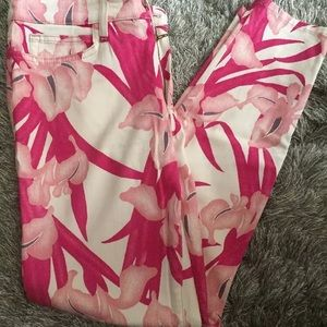Joe's Jeans new cropped skinny floral mid rise 30