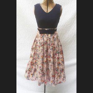 New Eshakti Floral Fit & Flare Dress XS 2