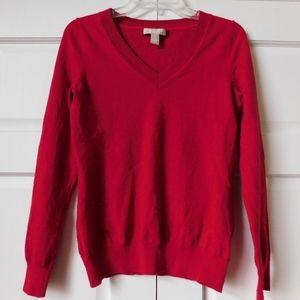 Banana Republic Red Merino Wool Sweater Size Small