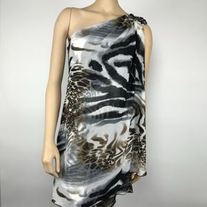 NWT Onyx Nite One Shoulder Mini Dress