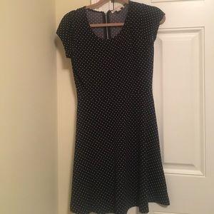 Michael Kors black and white polka dotted dress