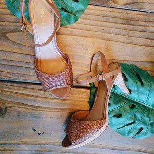 Nine West Mid-Heel Cork Sandals