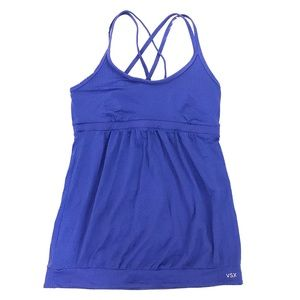 VSX workout tank blue bra work out Sexy Sport S