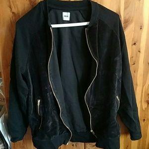 Velour Bomber Jacket