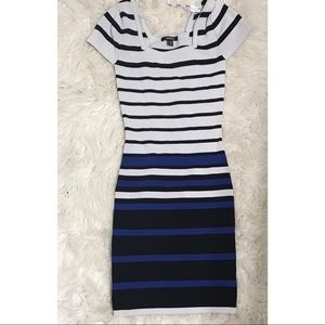 Dresses & Skirts - Xs blue and white striped mini dress.