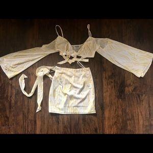 Sabo Skirt Other - Sabo Skirt Yellow Print Set