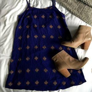 Like New Mossimo Dark Blue Flowy Dress, XS