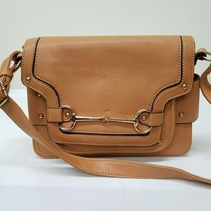 Melie Bianco Brown Leather Faux Bag