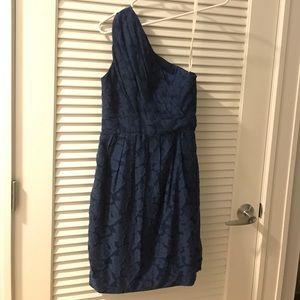 Shoshana cobalt Blue one shoulder dress Size 0