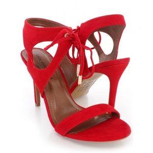 Red Cutout Heels