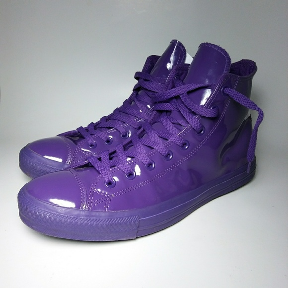 453c1832f8c5e Converse Other - Preowned Converse Chuck Taylors Patent Purple