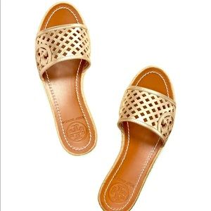 Tory Burch Platform Wedge Espadrille Sandals