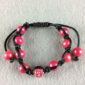 Jewelry - New Pink and Black Bead Bracelet