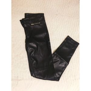 H&M | leather pants