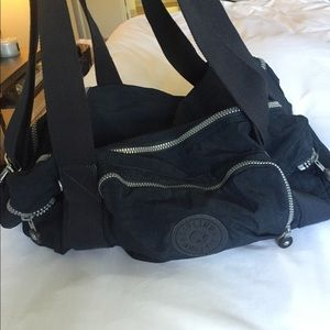 Navy Blue Kipling Duffle Bag