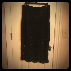 NWT Forever 21 Calf 1/2 Lace Skirt