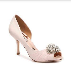 Badgley Mischka Pearson Pink Heels