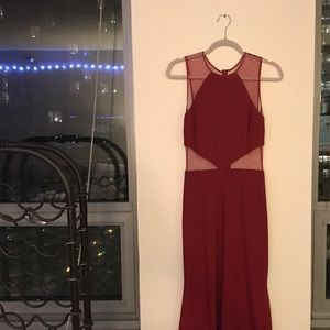 js collection maroon/red ball gown