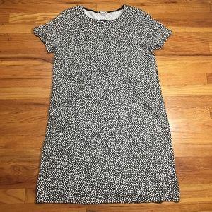 Boden Black White Polka Dot Dress W/ Pockets Sz 12