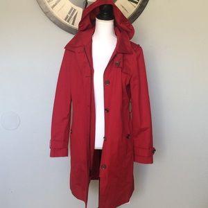 Red Michael Kors Raincoat