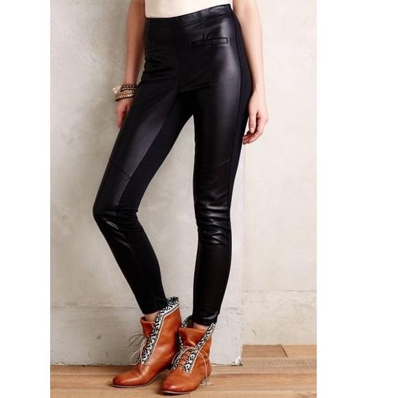 454b8facd320f5 Anthropologie Pants - Anthropologie La Fee Verte vegan leather leggings