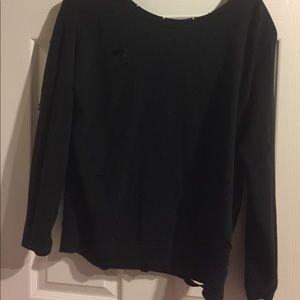 Express Destressed Sweatshirt