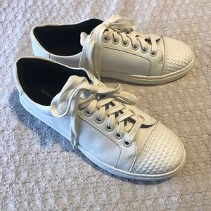 Rebecca Minkoff White Leather Studded Sneaker 7.5