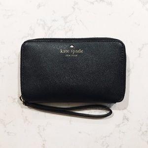 kate spade leather zip wallet wristlet