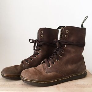 Dr. Martens brown leather sneaker boot
