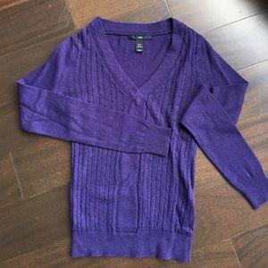 Purple v-neck H&M sweater