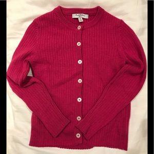 Brooks Brothers raspberry cardigan 💕