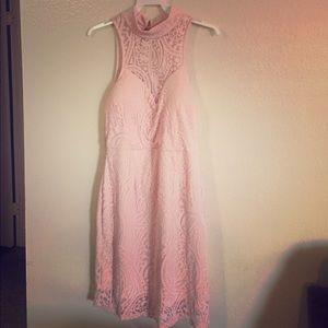 Pink 60% polyester 40% nylon party dress