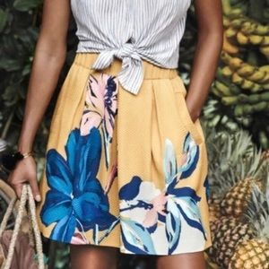 Anthropoligie Mauve Tropicale Skirt