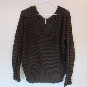Free People Slouchy Striped Sweater - Small