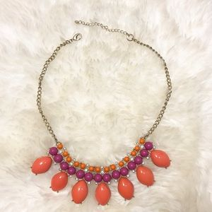 J.Crew-like Orange/Pink/Melon Statement Necklace