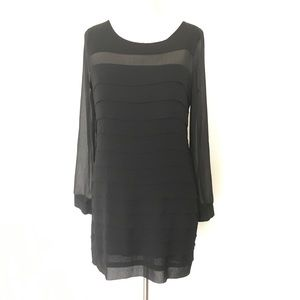 ROMEO & JULIET ~ black sheer layered ruffle dress