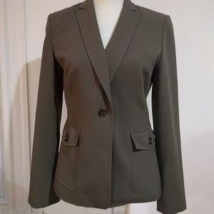 Olive Green Calvin Klein Stretch Jacket Pants Suit