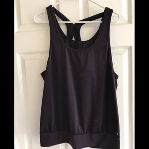 GAPfit Dark Purple Support Sport Tank Large