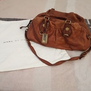 Marc by Marc Jacob's turnlock cognac leather bag