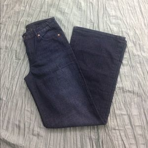 Joe's Jeans dark wash wide flare jeans