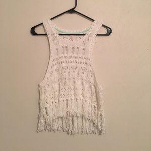 Victoria's Secret crochet and fringe top