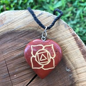 Root Chakra Crystal Necklace •