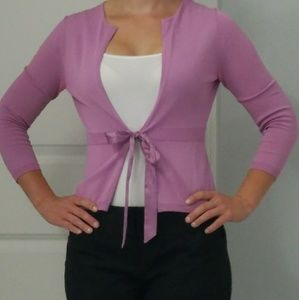 The Limited 3/4 sleeve tie cardigan