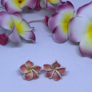 Jewelry - LIGHT PINK FLOWER STUDS ( HANDMADE)