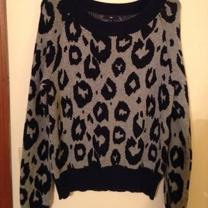 Gap Navy Animal Print Sweater