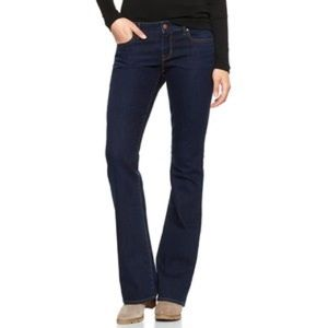 GAP Sexy Boot Denim Jeans in Salinas (Dark Wash)