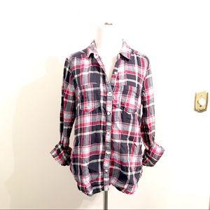 BP Pink & Navy Flannel